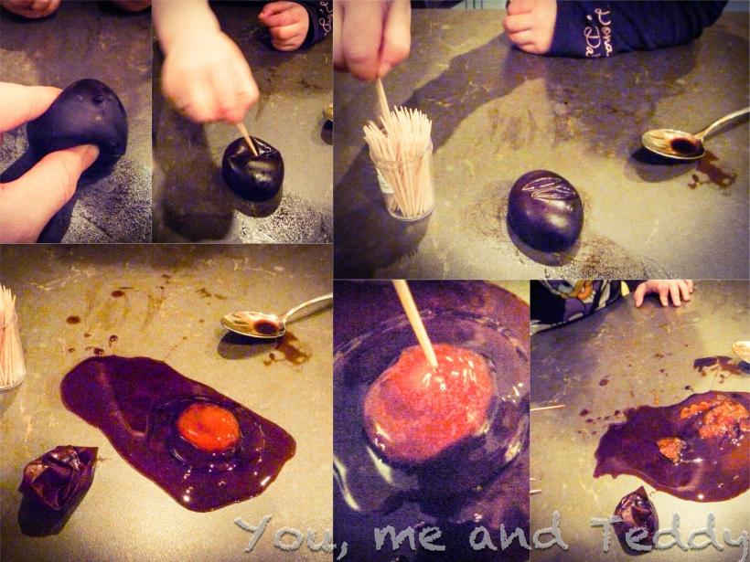molasses egg collage